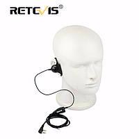 RetevisDформаSoftУшиКрюк Ушиpiece 2Pin PTT Mic Headset для Kenwood для Baofeng UV-5R 888S