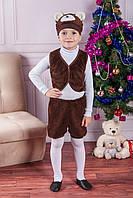 Новогодний костюм для мальчика Медведь 30-32 р, детские новогодние костюмы оптом от производителя