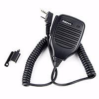 Retevis 2Pin PTT Speaker Микрофон Walkie Talkie Аксессуары для микрофона для Baofeng BF-888S RT5R H777 Для Kenwood Радио C9001