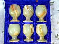 Рюмки из оникса классика набор из 6 шт