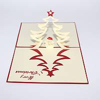 Рождественская елка и снеговик 3D Pop Up Поздравительная открытка Рождественские подарки Party Greeting Card
