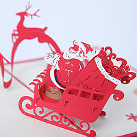 Новогодняя открытка с Рождеством и Северным оленем Поздравительная открытка Рождественские подарки Поздравительная открытка