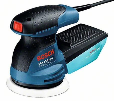 Шлифмашина эксцентриковая Bosch GEX 125-1 AE (0601387501) Чемодан, фото 2