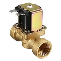 220V 2-контактный нормально замкнутый латунный электрический электромагнитный клапан для воздушного водяного клапана