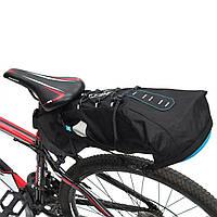 ROSWHEEL 10L Водонепроницаемы Велосипедный хвост Сумка Чехол заднего седла для сиденья Черный