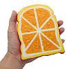 SquishyShop Orange Bread Toast Slice Squishy 14cm Soft Медленная роспись Коллекция подарков Декор Игрушка