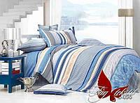 Комплект постельного белья сатин евро TM Tag 056