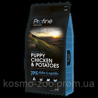 Сухой корм Профайн (Profine puppy chicken & potatoes) для щенков и молодых собак курица и картофель 15кг