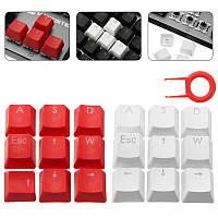 MantisTek® ESC WASD Direcition Keys Двухцветная литьевая формовка PBT Keycaps Ключи для ключей Red White