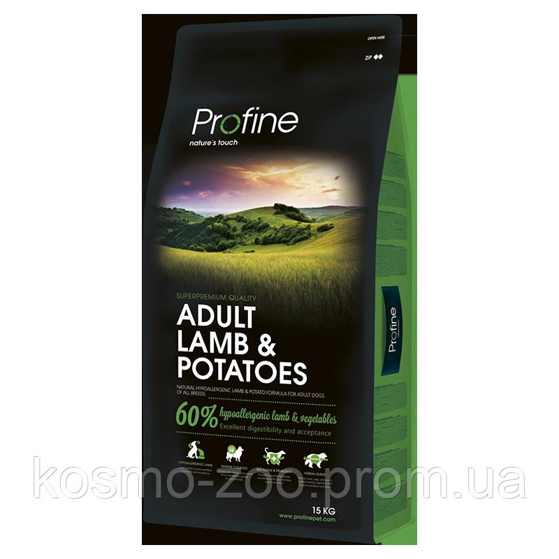 Сухой корм для взрослых собак (Profine adult lamb & potatoes) ягненок и картофель 15 кг