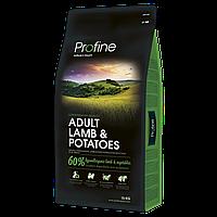 Сухой корм Профайн (Profine adult lamb & potatoes) для взрослых собак ягненок и картофель 15 кг
