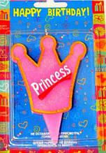 Свеча на анлийском языке Принцесса Корона 6х6.5 см