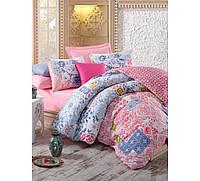 Хлопковый комплект постельного белья ЕВРО размера Cotton Box MOSAIC PEMBE CB03
