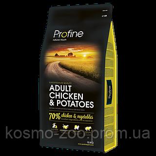 Сухой корм Профайн (Profine adult chicken & potatoes) для взрослых собак курица и картофель 15 кг