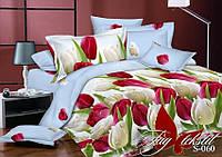 Комплект постельного белья сатин евро TM Tag 060