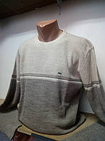 Мужская кофта свитер. Батал светло-серая
