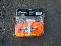 Трос буксировочный 4,5 метра, 3 тонны, ширина 50 мм, с-крюк, (цвет оранжевый) производитель Дорожная карта