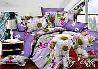 Комплект постельного белья сатин евро TM Tag 061