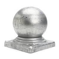 100 мм Утюг Ball Top Забор Финишная крышка с плоской защитой для защиты квадратного основания