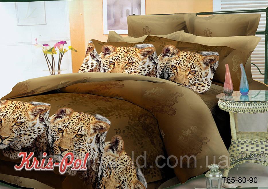 Комплект постельного белья полиэстер 3D ТМ KRIS-POL (Украина) семейный