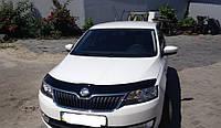 Мухобойка на капот Skoda Rapid c 2012