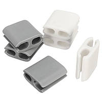 6Pcs Small Multipurpose Наушник Провод Органайзер Кабельные зажимы Tidy Rubber Lead Cord Holder