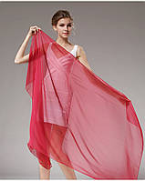 Шелковый шарф бордовый