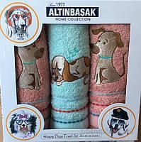 Набор махровых полотенец Собачки Altinbasak  3шт.