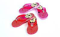 Вьетнамки для девочек Miki  (EVA, р-р RUS-30-35, красный, розовый-голубой)