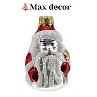 """Формовая стеклянная игрушка """"Дед Мороз мини"""" (высота 6 см.)"""