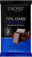 Cachet extra dark chocolate Бельгийский экстра-чёрный шоколад 70% какао, 300г