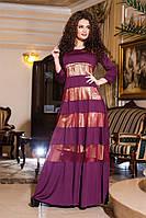"""Полупрозрачное платье """"Monserrat"""" с атласной подкладкой и вставками из сетки (2 цвета)"""