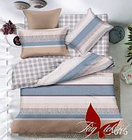Комплект постельного белья сатин евро TM Tag 075