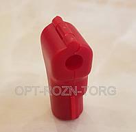 Стоплок (мультилок) замок для крючка красный 6 мм