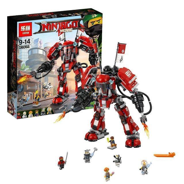 Конструктор Ninjago Movie Lepin 06052 Огненный робот Кая 1010 дет
