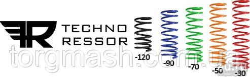 Пружина передней подвески ВАЗ 2108-2110 ТЕХНО-РЕССОР занижение -70 технорессор