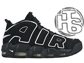 Мужские кроссовки Nike Air More Uptempo Black/White 414962-002