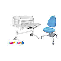 Детская парта для дома FunDesk Amare Grey II  + Детское кресло SST4 Blue