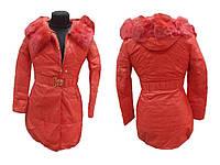 Жіноче зимове пальто р.XL червоне арт.1280 ТМКИТАЙ