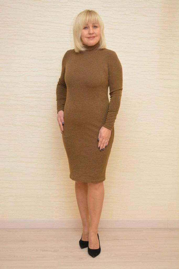 Платье цвета табака - Модель Л200-2 (50р) (ц)