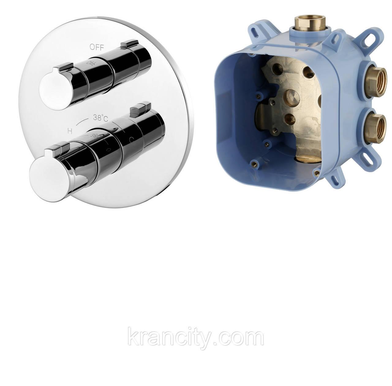 Cмеситель для ванной с термостатом скрытого монтажа IMPRESE CENTRUM VRB-15400Z