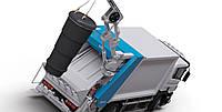 Мусоровоз с краном сзади для подземных контейнеров HV400 Hidromak