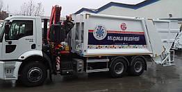 Мусоровоз с краном за кабиной для подземных контейнеров HV400 Hidromak