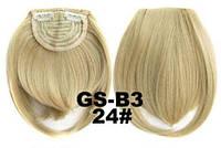 Накладная челка на клипсах из искусственных волос 24 пепельный блонд, фото 1