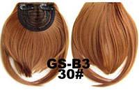 Накладная челка на клипсах из искусственных волос 30 рыжий