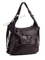 Стильная сумочка оптом не дорогая в коричневом сером цвете