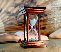 Песочные часы синий песок 10 минут (8х8х14 см)