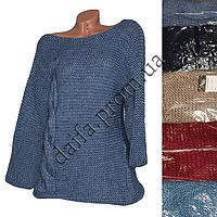 Женский вязаный свитер (рукав 3/4) 304 (р-р 48-50) оптом в Одессе. Интернет-магазин Daifa.