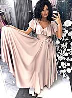 """Нарядное длинное платье """"Maude"""" свободного покроя с поясом (6 цветов)"""