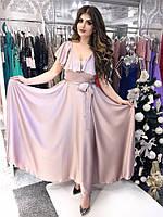 """Нарядное длинное платье """"Grace"""" расклешенное с поясом (6 цветов)"""